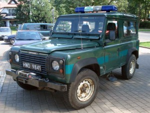 Land Rover Defender польских пограничников